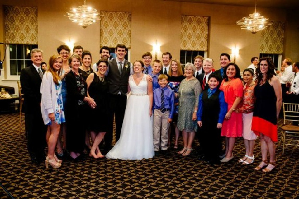 My always-growing extended family—July 17, 2015, in Upper Darby, Pennsylvania.