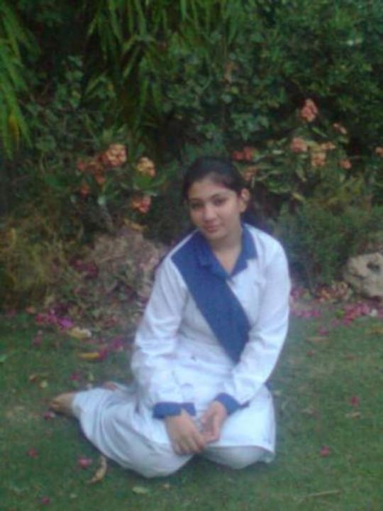 In high school uniform, 2009.