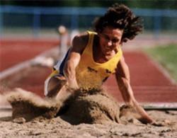 Long jumping at the Paralympics, 1996.