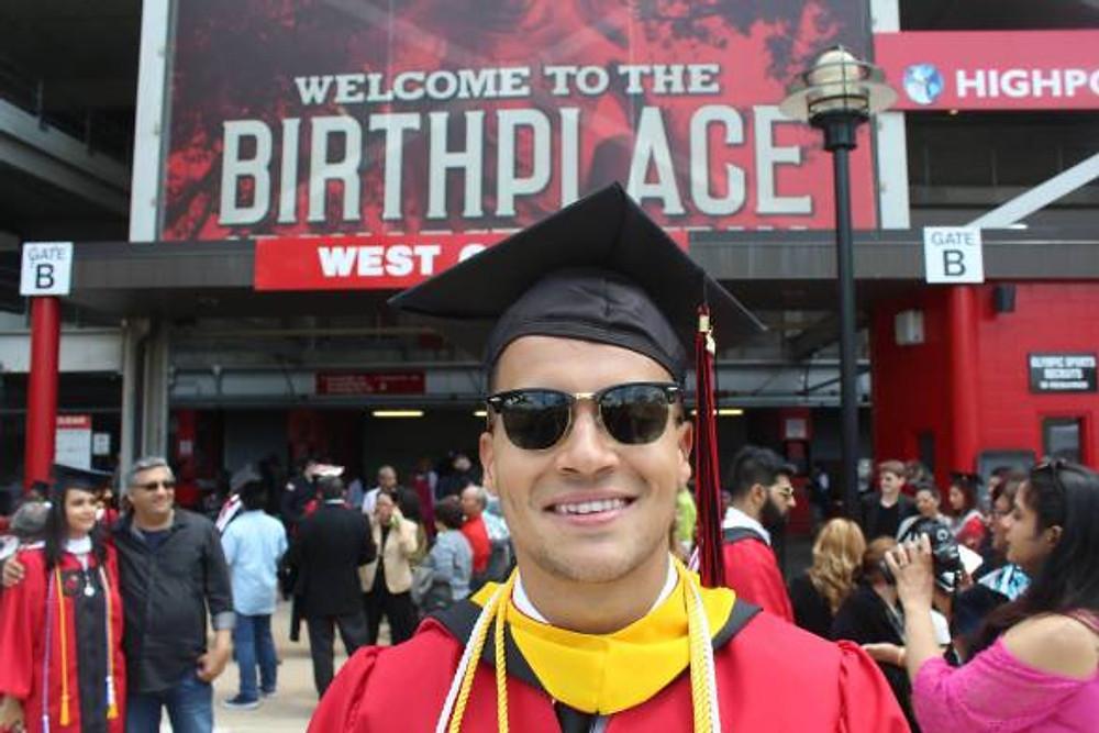 My graduation day at Rutgers University, 2017.