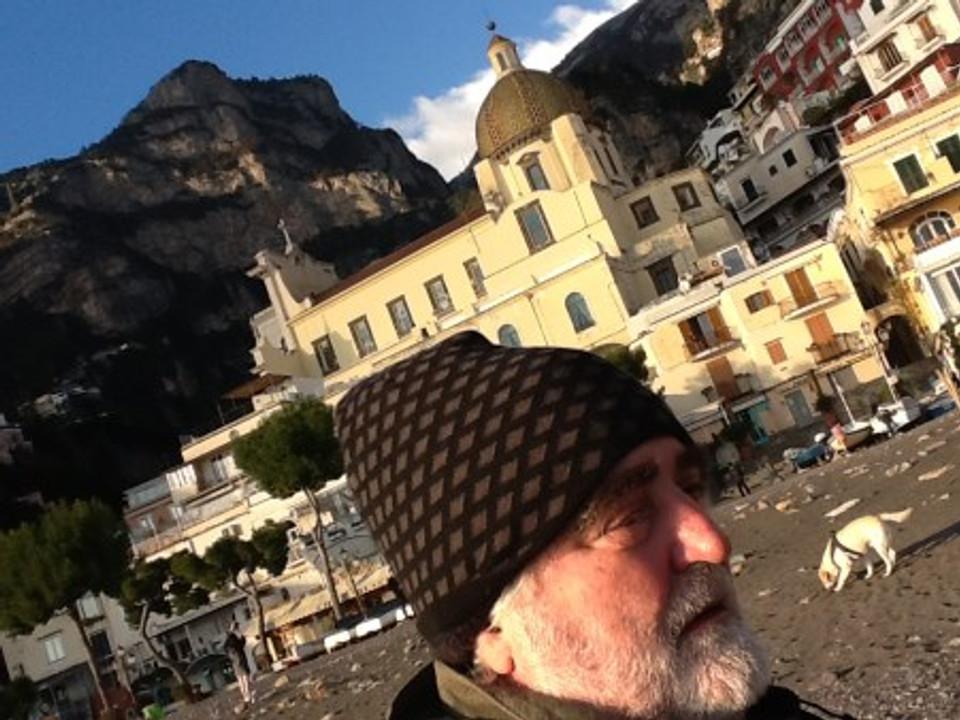 Joel Worth vacationing on the coast of Positano, Italy.