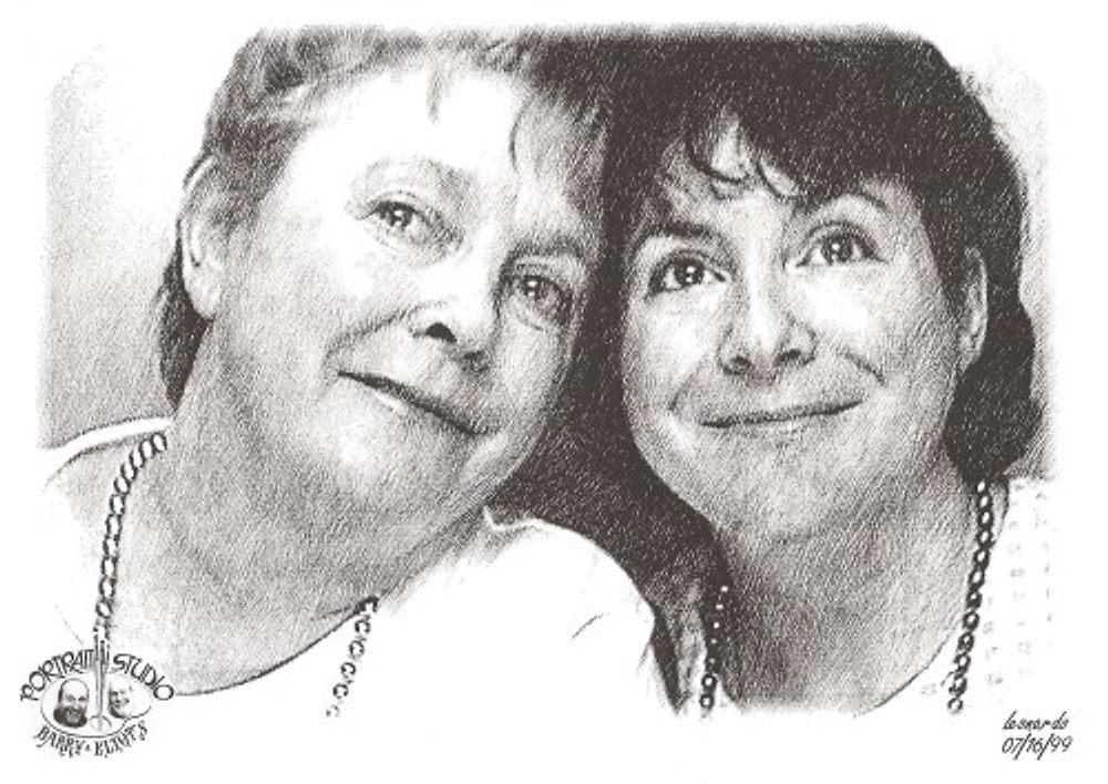 A portrait of Dawn and me, 1999.