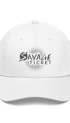 Savage Ticket Grey Logo Hat