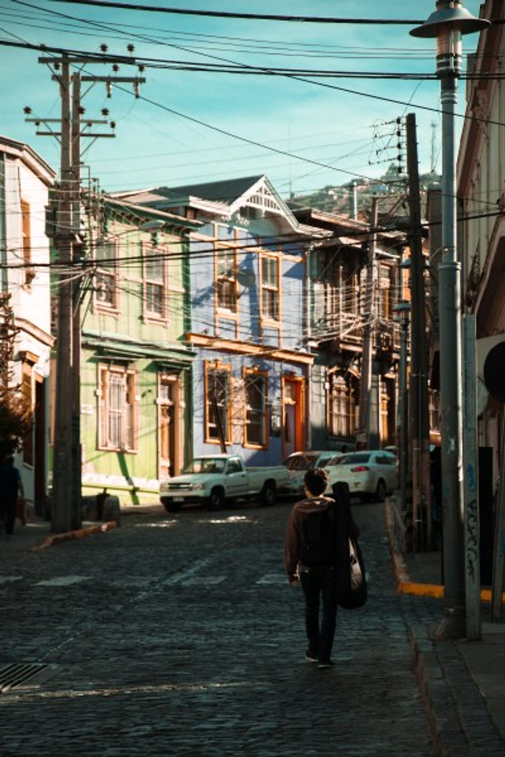Exploring the streets of Valparaiso, Chile in 2018.
