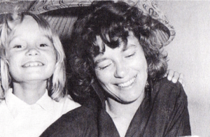 Me and my mother, in one of the few happy moments we had together.