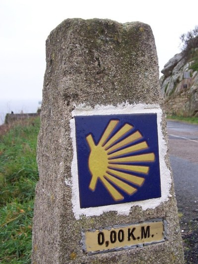 0,00 K.M. maker on the Camino.