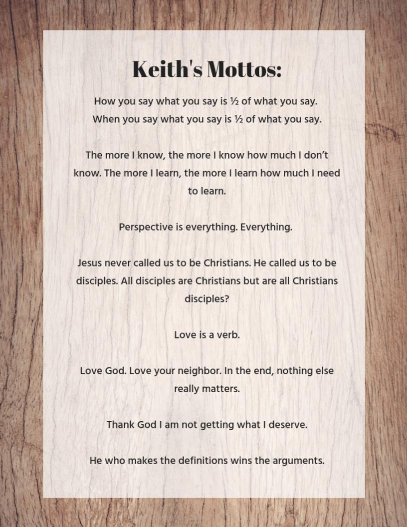 Keith's Mottos_