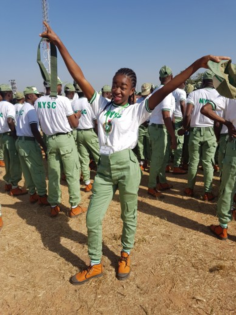 At the beginning of the NYSC program, November 2016.