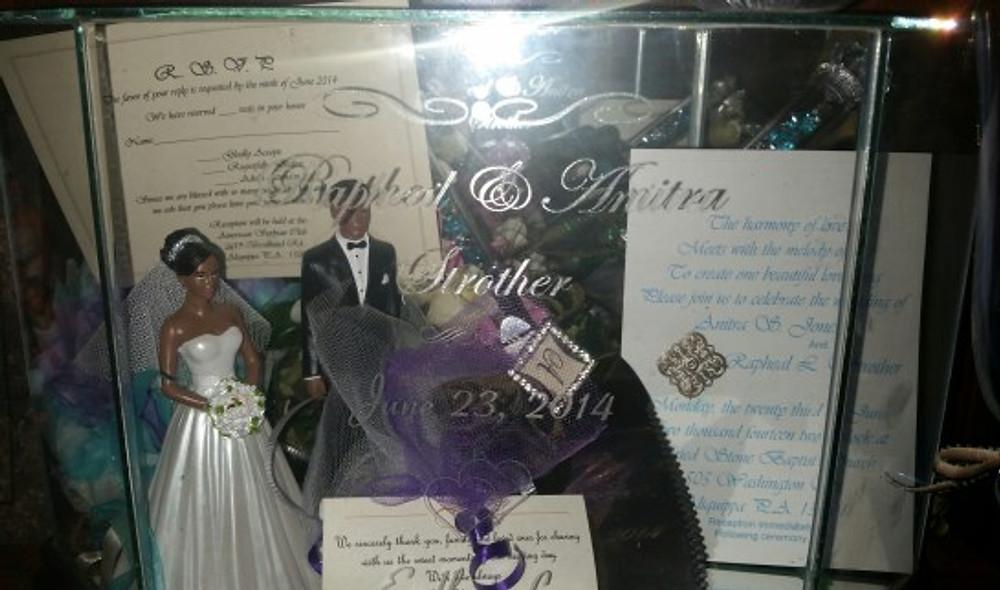 Our wedding invitation, 2014.