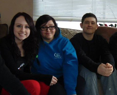 Courtney (far left) and her biological siblings.