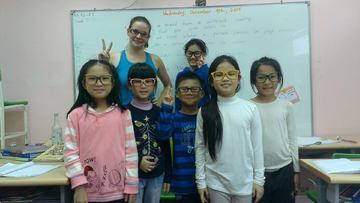 With my students, 2014.