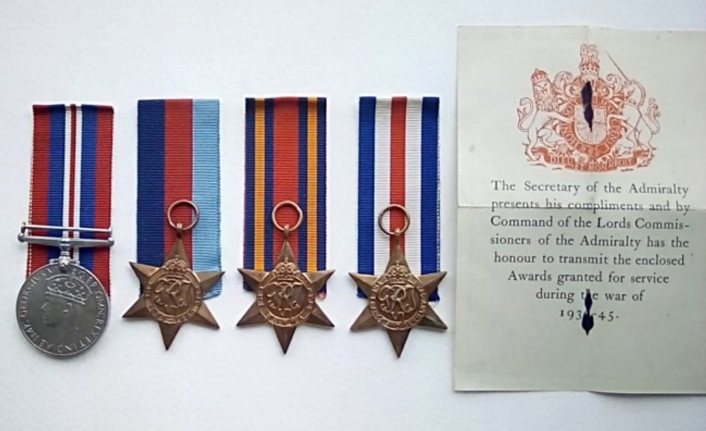 The medals I received from serving in WWII.