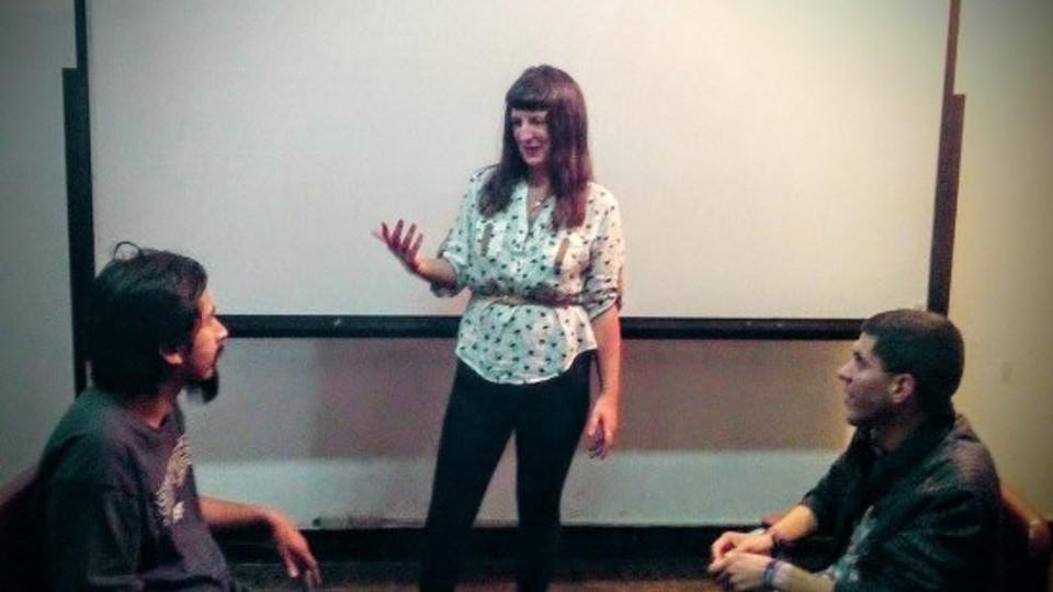 Me, teaching acting.