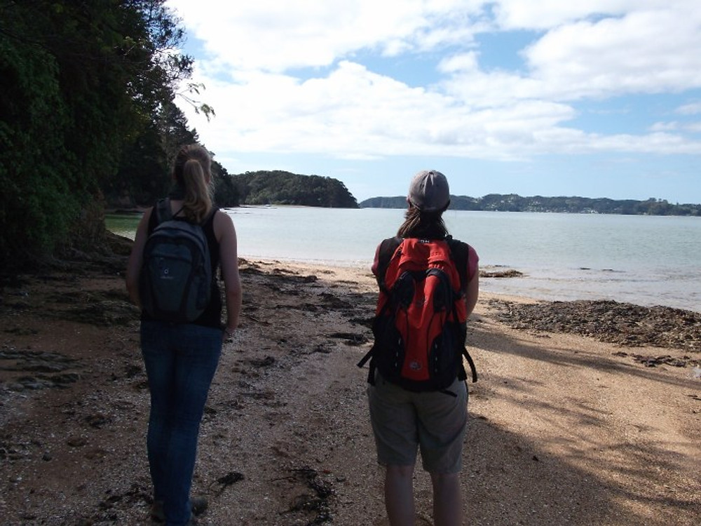Me (left) with a friend in Paihia, North Island, New Zealand.Mary with Friend in Paihia.JPG