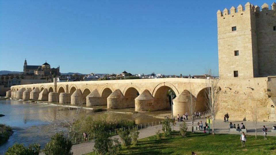 Roman bridge in Cordoba, Spain.