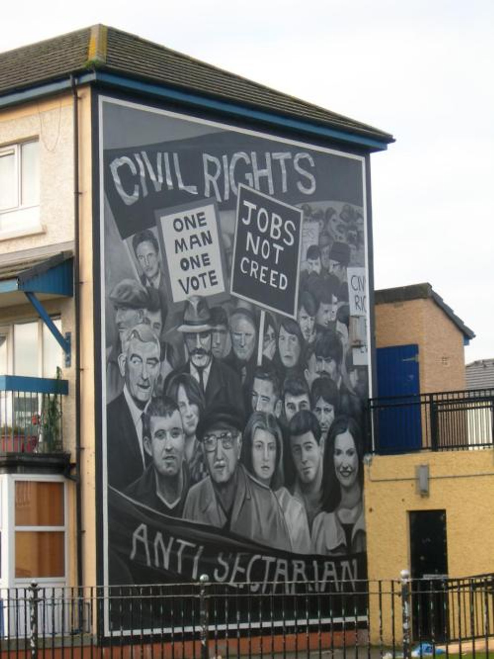 A Nationalist mural in West Belfast.