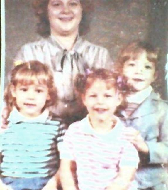 My family (I'm on the far left), c. 1986.