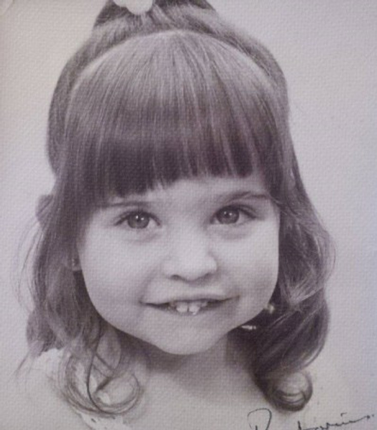 My parents had my portrait done by a professional photographer, 1980.
