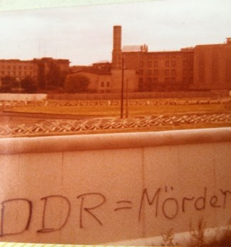 A picture of the wall taken on a 1978 visit to Berlin.