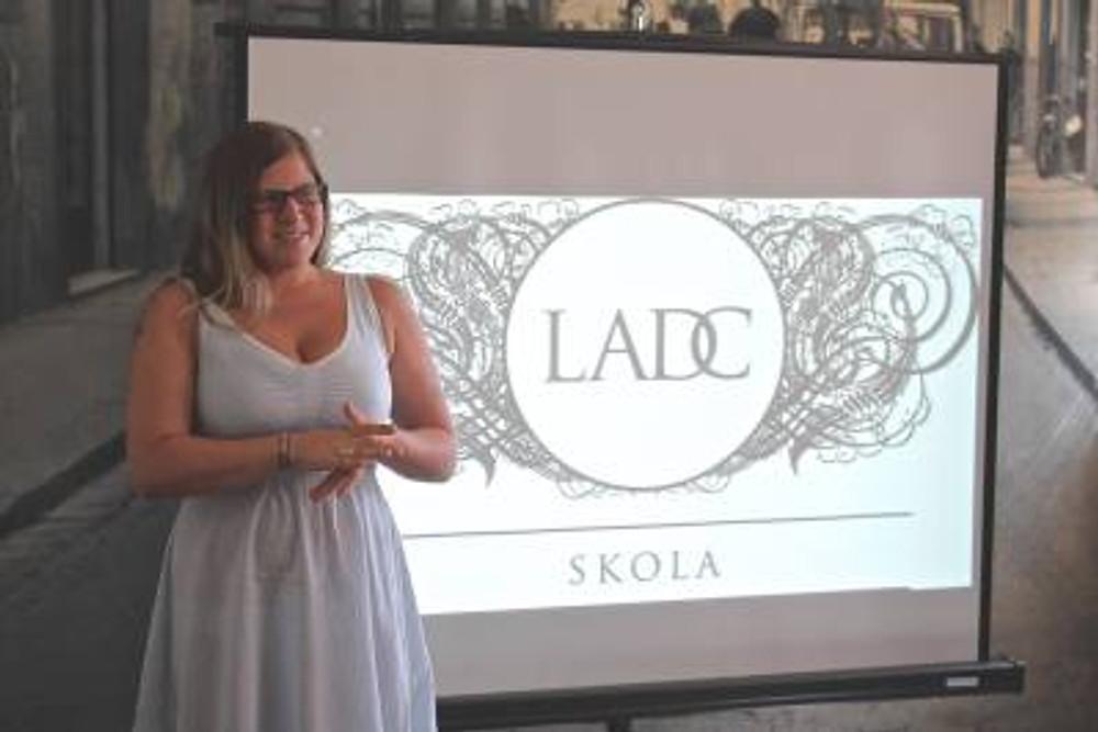 Presenting a project at The Latvian Art Directors Club.