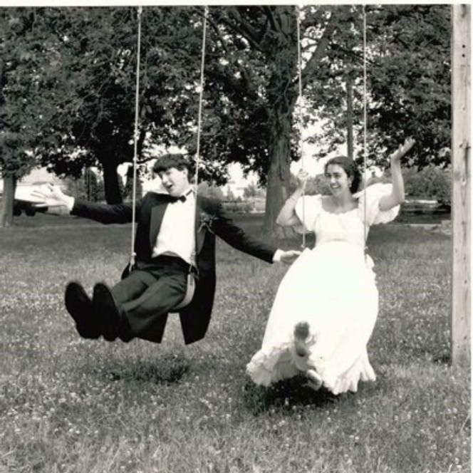 Our wedding day in Lititz, Pennsylvania, on June 25th, 1988.