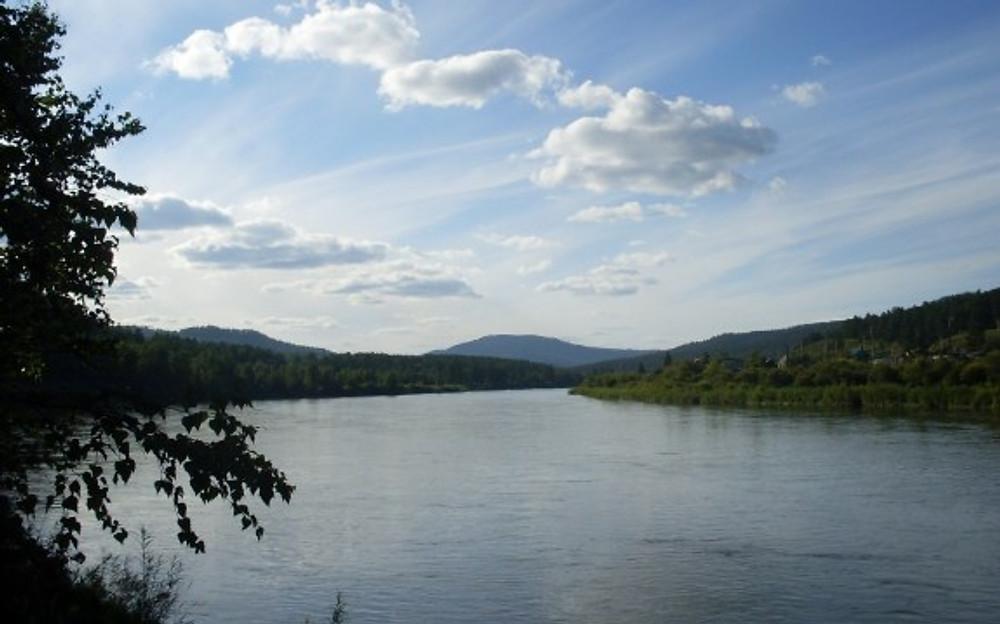 The Ingoda River near Chita, Zabaykalsky Krai, Siberia, Russia.
