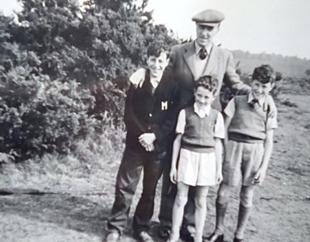 With my three sons, c. 1950.