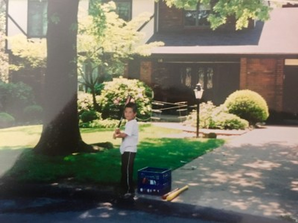 Me playing baseball in Pennsylvania, 2001.