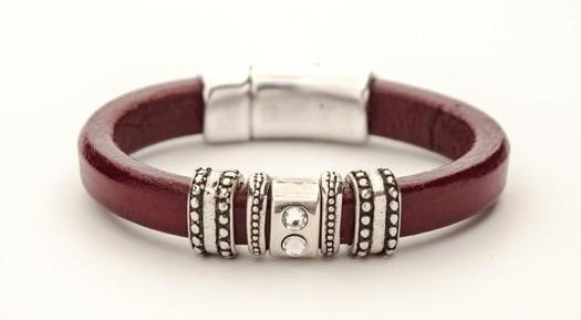 The bracelets are made from sterling silver, exquisite Spanish leather, and premium European cork. Every one of my bracelets stems from a line named after each of my three children, each truly unique and distinctive.
