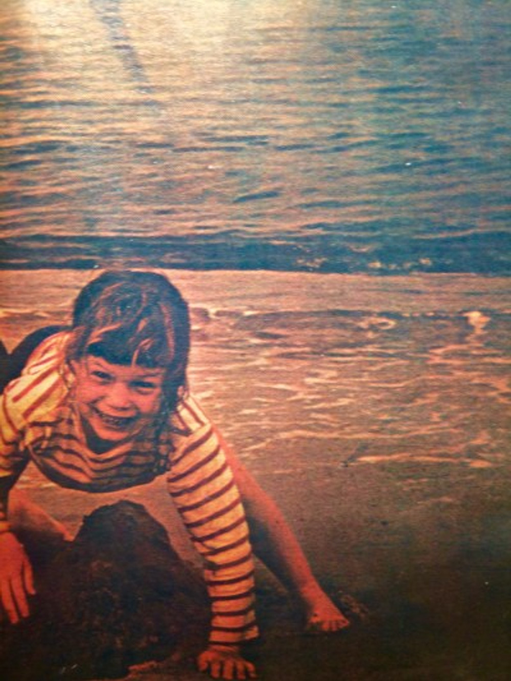 Here I am on vacation at Cape Cod—where I learned to swim and love the ocean, 1962.