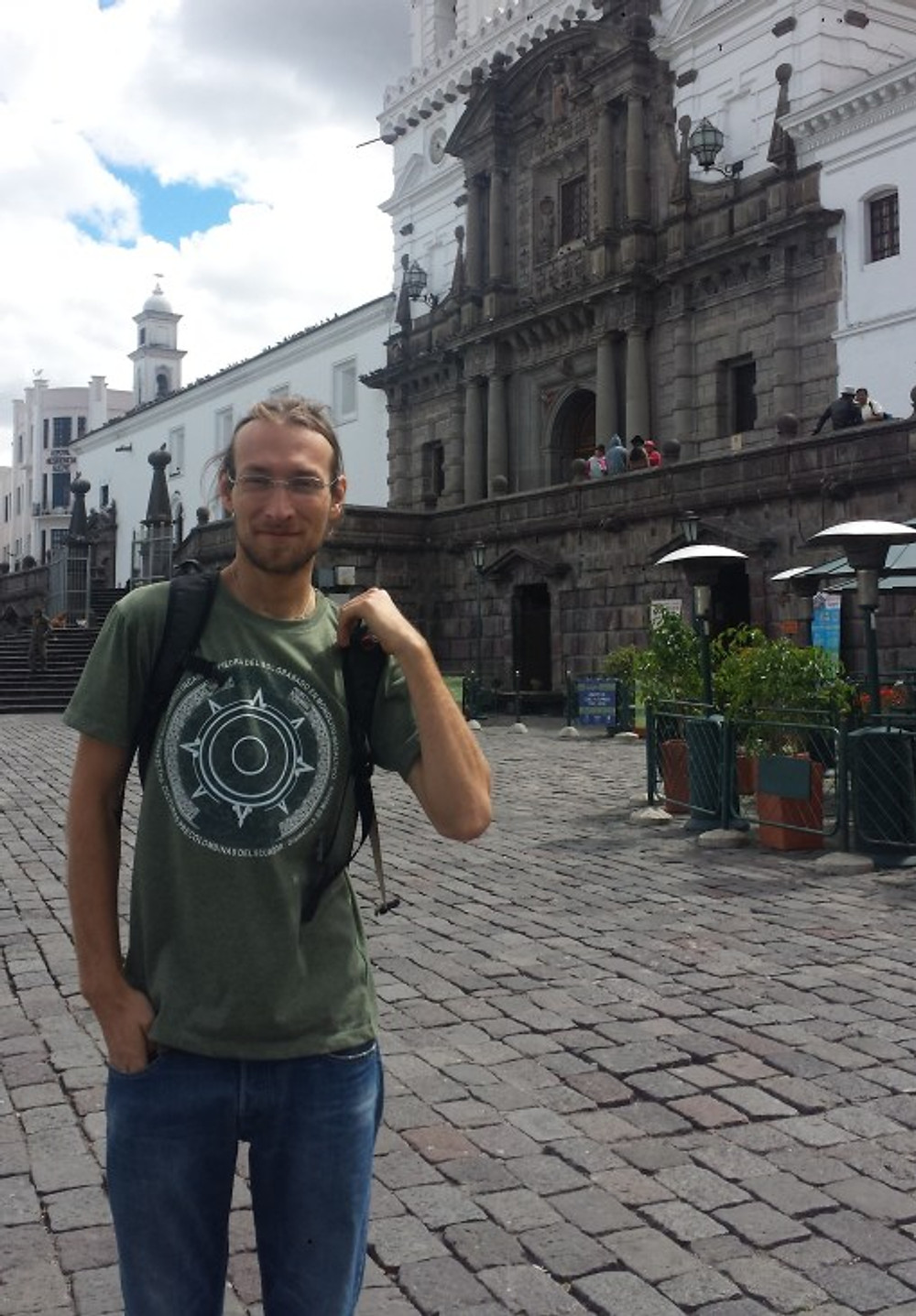 Me traveling in Quito, Ecuador, 2016.