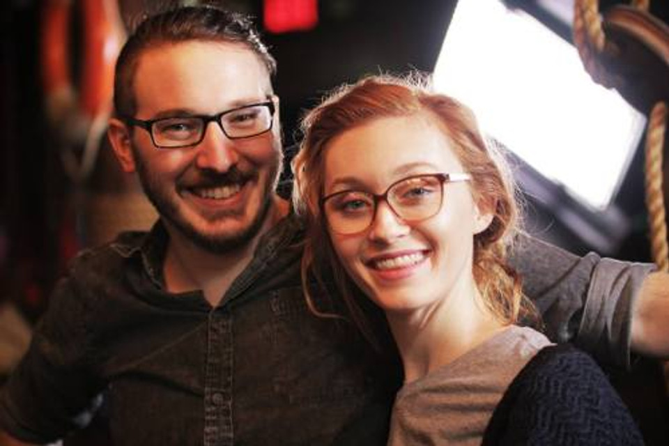 Leah and her husband, 2018.