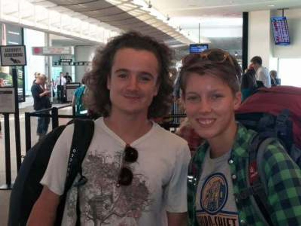 Michael and I about to leave for New Zealand, August 2015.