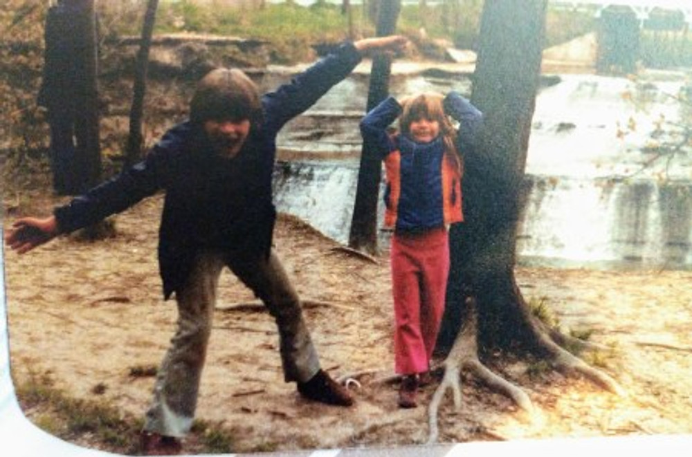 Jimmy and me as kids, late 70s.