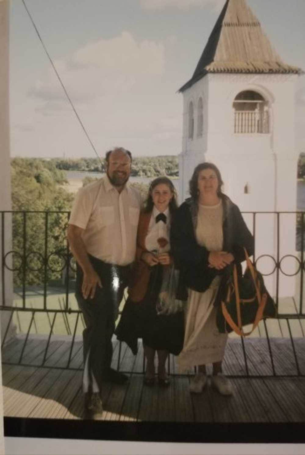 With my parents in Russia, 1998.