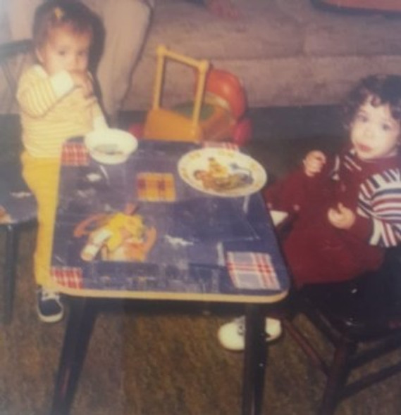 Nikki and Josh as toddlers in St. Louis ,1981.