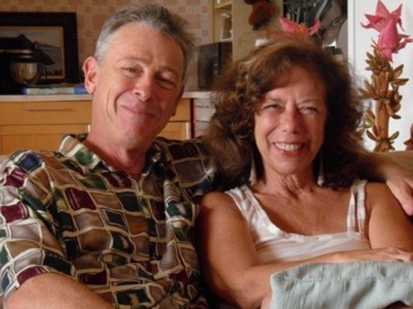 Marsha with her husband, Mark, at their Costa Rica home, c. 2002.