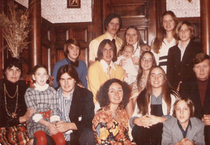 Our family Christmas card, shortly after we became Catholic. I'm front and center.
