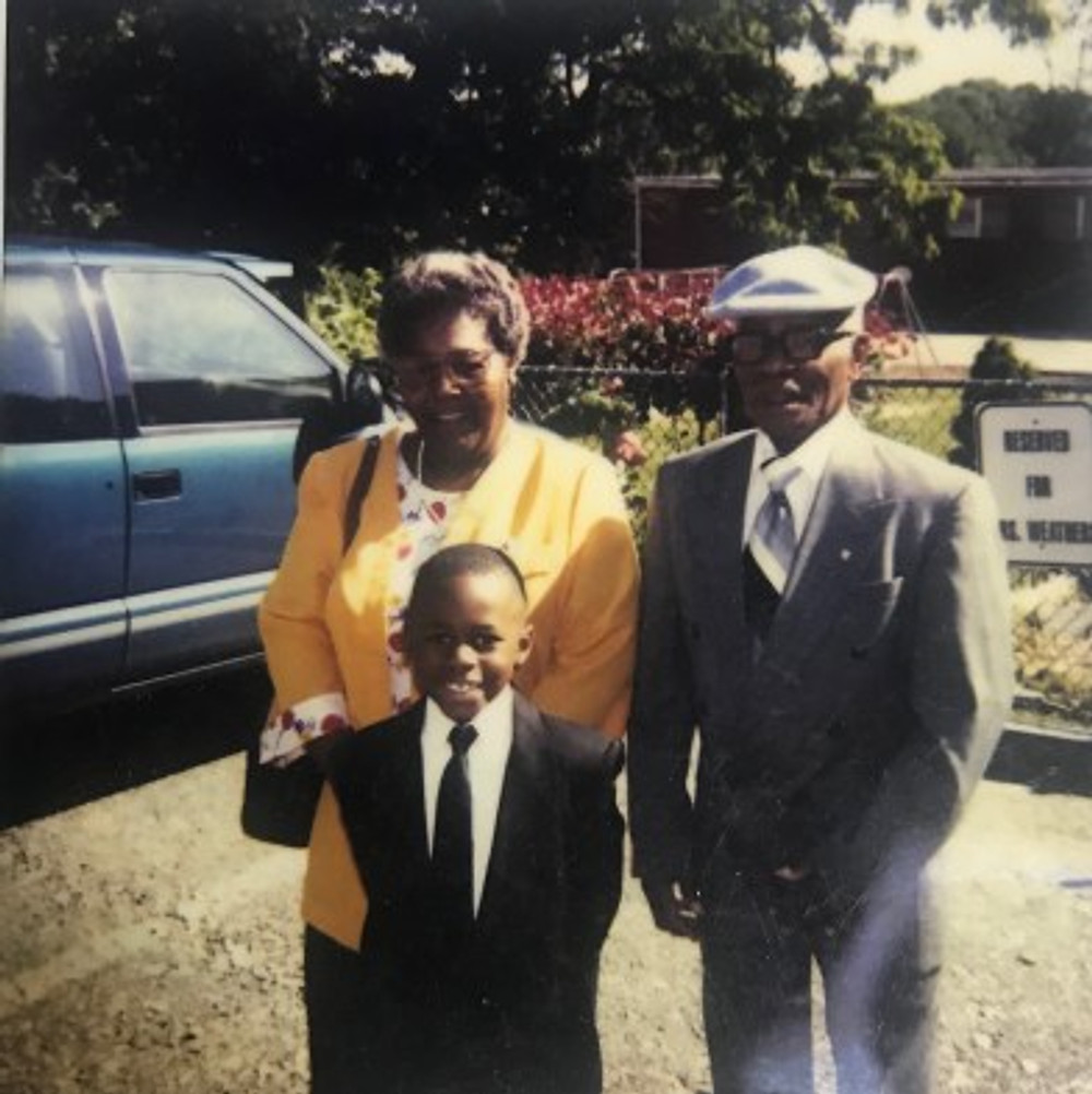Grammy, Grandpa, and me at my Kindergarten graduation in Suitland, Maryland, 1997.