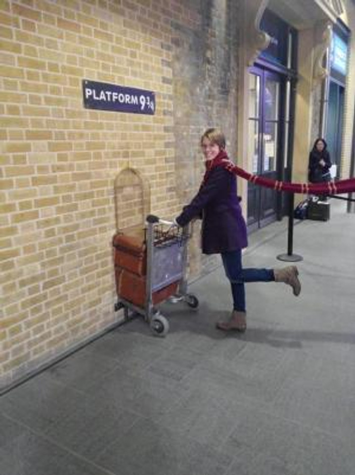Visiting Harry Potter Studios in London, England in 2013.