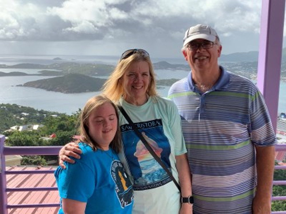 On vacation with my husband, Tim, and my daughter Jeannine.