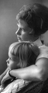 With my daughter, Simone, 1961.