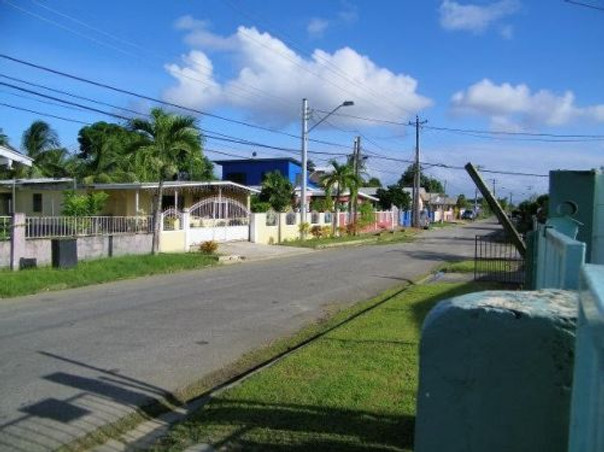 The street that I lived on in Trinidad.