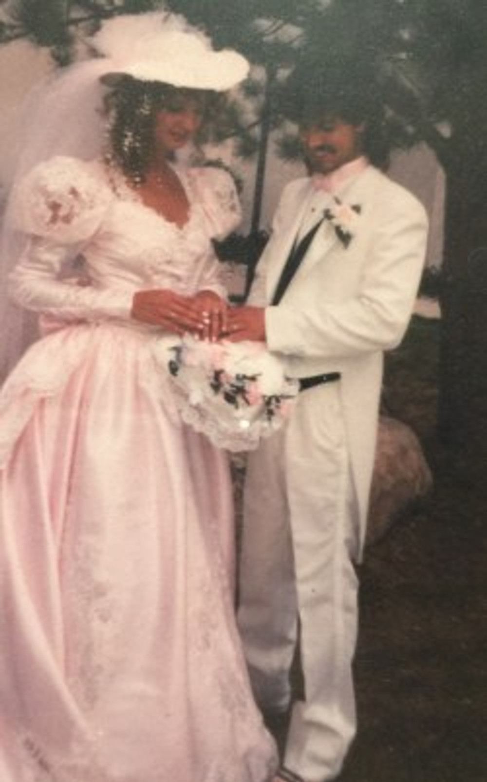 Kryssy and me on our wedding day, 1991.