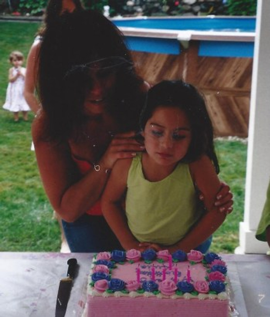 With my daughter at her birthday party!