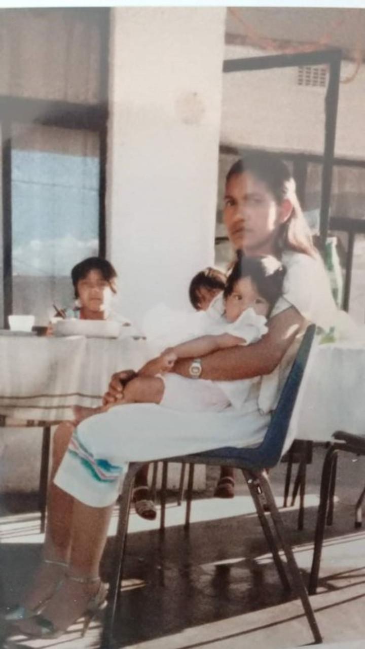 Mom and me, November 1984.