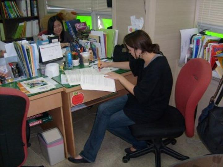 Teaching in Korea.