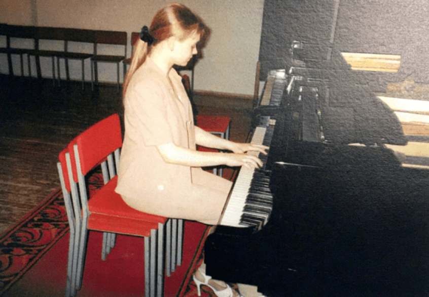 Me playing piano.