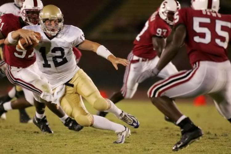 Running through Stanford line, 2005.