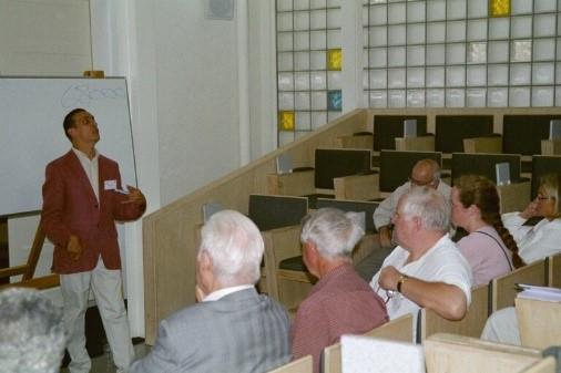 Public speaking in Switzerland.
